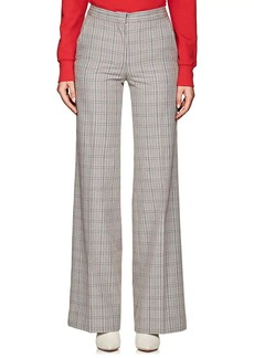 Off-White c/o Virgil Abloh Women's Plaid Cotton-Blend Trousers