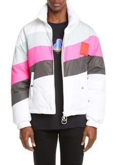 Off-White Colorblock Nylon Puffer Jacket