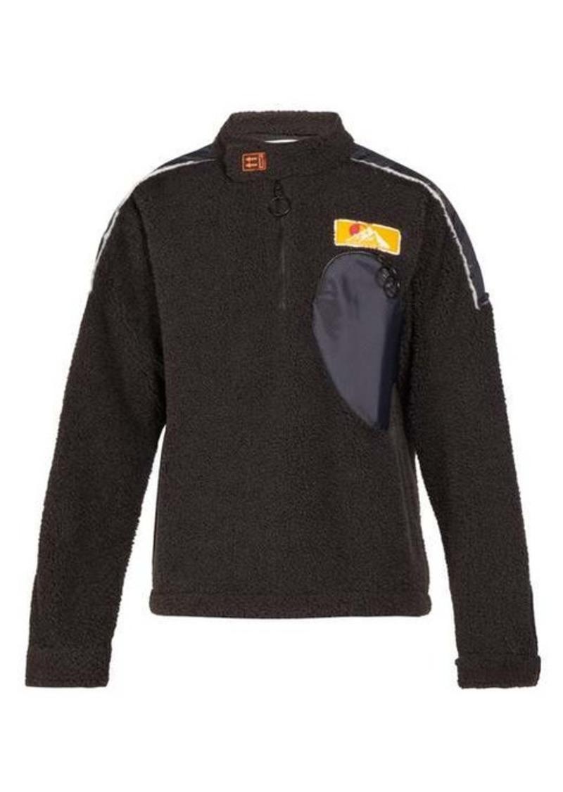 Off-White Contrast-panel fleece sweatshirt