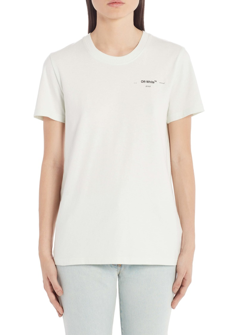 Off-White Coral Arrow Logo Graphic Cotton Tee