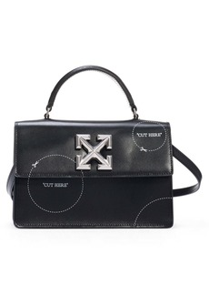 Off-White Cut Here Jitney 1.4 Leather Bag