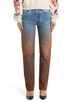 Off-White Degrade Baggy Straight Leg Jeans