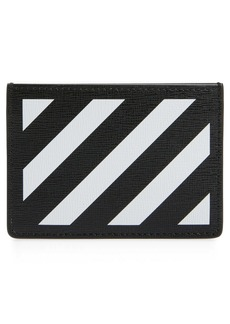 Off-White Diagonal Stripe Card Wallet