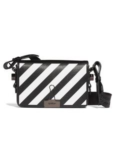 Off-White Diagonal Stripe Mini Flap Bag