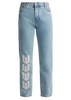 Off-White Embroidered straight-leg jeans