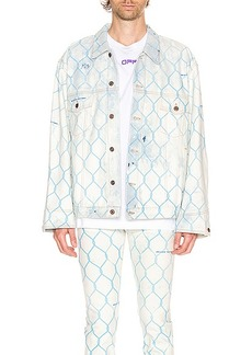 OFF-WHITE Fence Jeans Jacket
