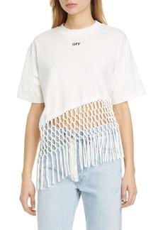 Off-White Fishnet Hem T-Shirt