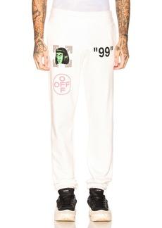 OFF-WHITE Green Man Sweatpants