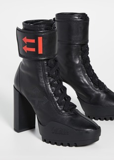 Off-White Heeled Moto Wrap Boots