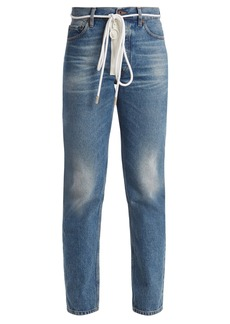 Off-White High-rise slim-leg jeans
