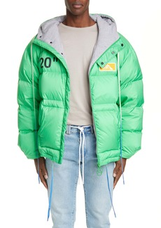 Off-White Hooded Down Puffer Coat
