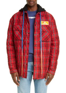 Off-White Hooded Flannel Jacket