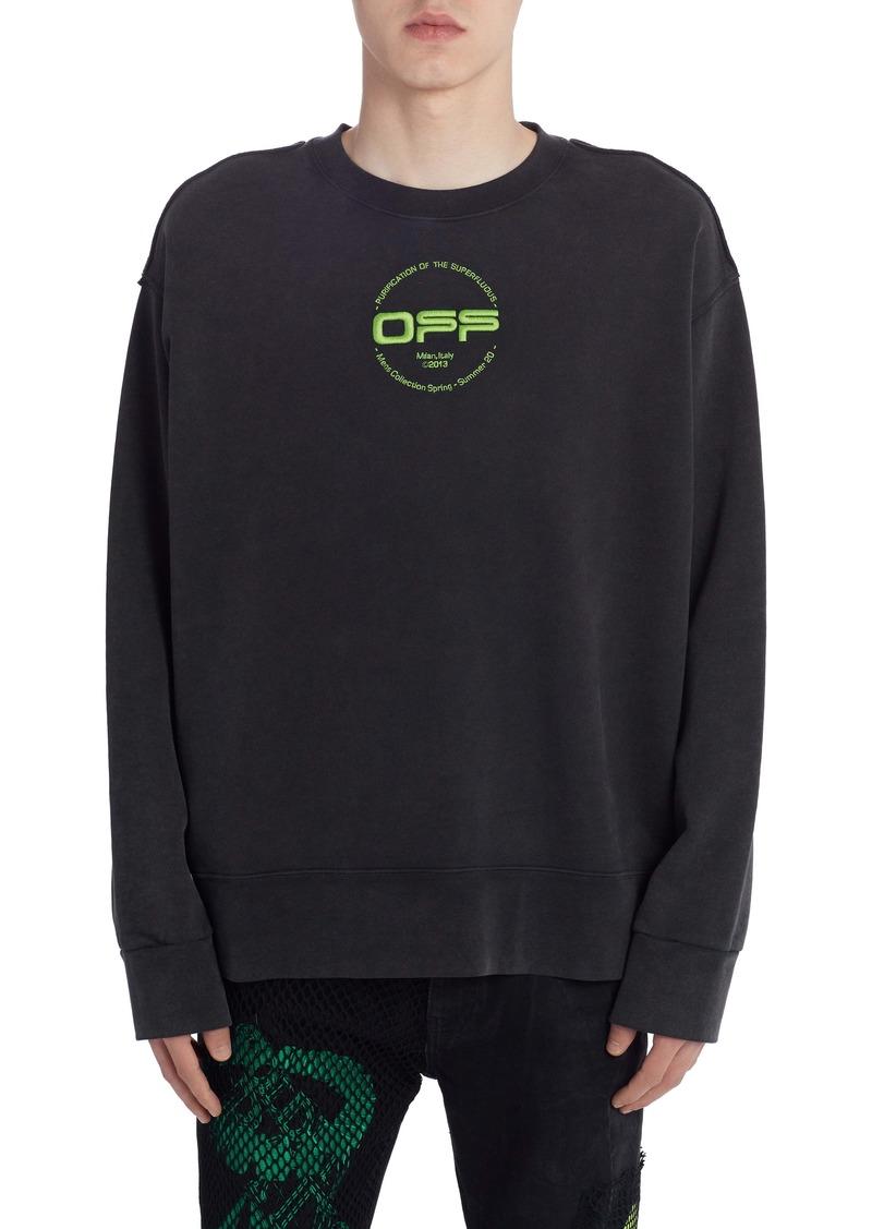 Off-White Incompiuto Hand Logo Sweatshirt
