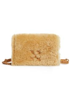 Off-White Jitney 0.5 Genuine Shearling Shoulder Bag