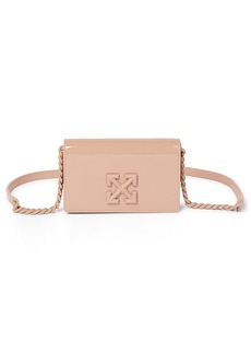 Off-White Jitney 0.5 Patent Leather Shoulder Bag