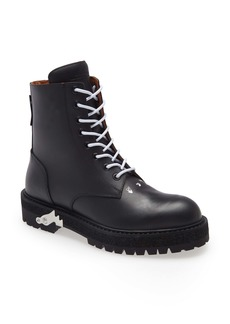 Off-White Logo Lace-Up Boot (Men)