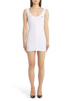 Off-White Logo Print Body-Con Minidress