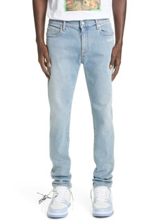 Off-White Logo Slim Fit Jeans (Bleach White)