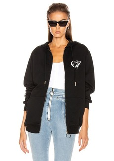 OFF-WHITE Markers Zipped Hoodie