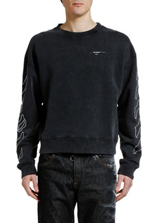 Off-White Men's Abstract Arrows Faded Crewneck Sweatshirt