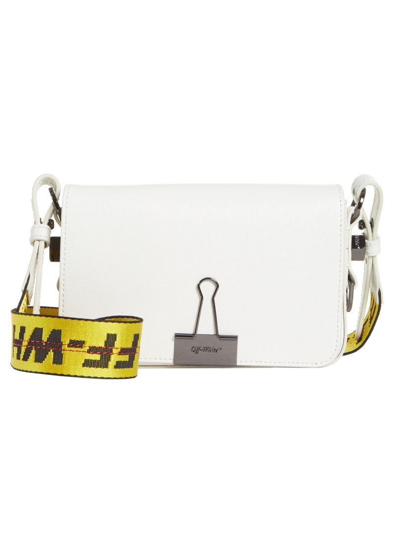 Off-White Mini Leather Flap Bag