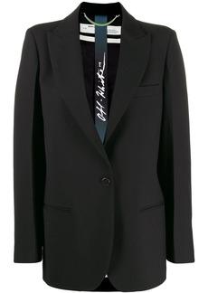 Off-White peaked lapels logo print blazer