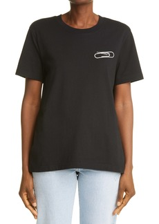 Off-White Paperclip Logo Graphic Cotton Tee