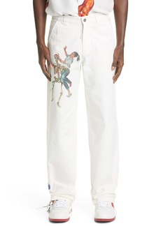 Off-White Pascal Print Cotton Twill Pants