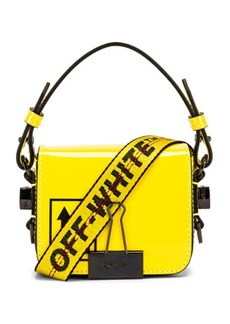 OFF-WHITE Patent Baby Flap Bag