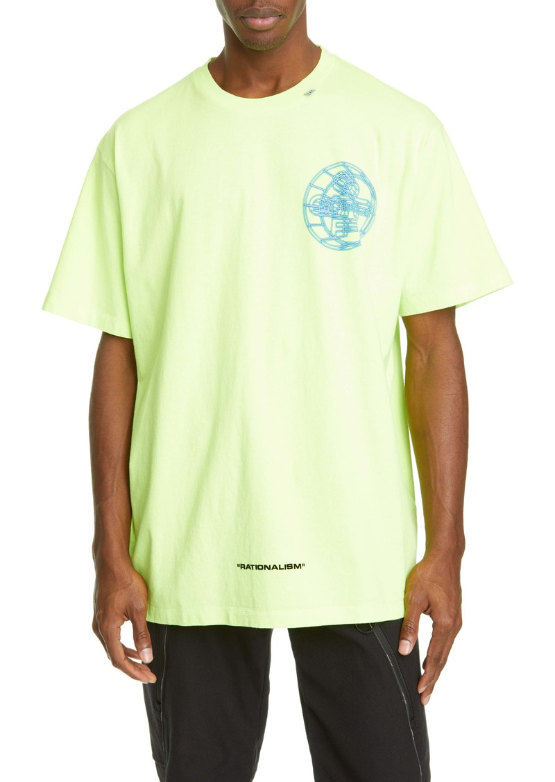 Off-White Rationalism Logo Graphic Cotton T-Shirt