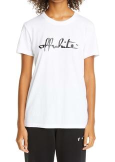 Off-White Script Logo Cotton Tee
