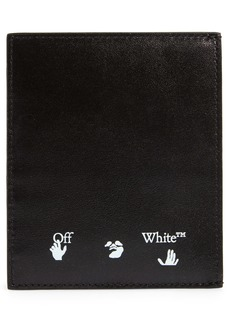 Off-White Shadow Logo Leather Card Holder