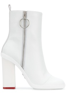 Off-White side-zip heeled boots