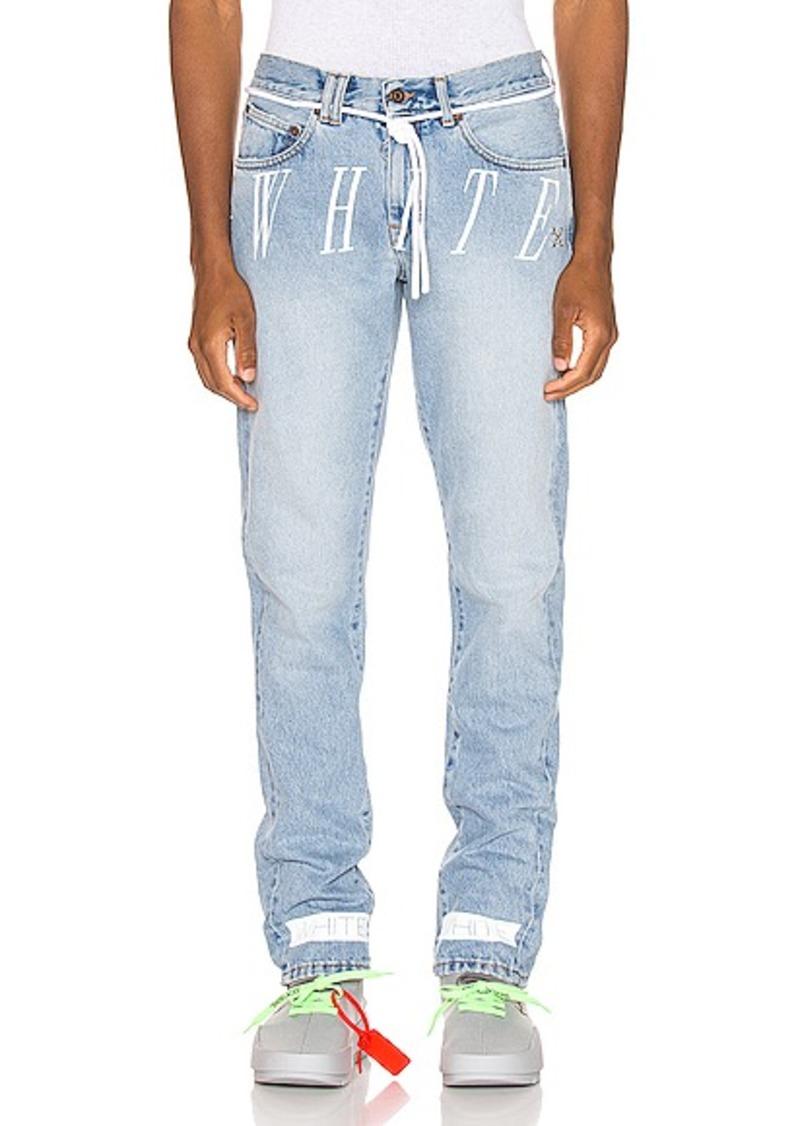 OFF-WHITE Slim Denim Jean