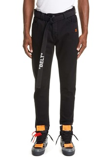 Off-White Slim Fit Belted Pants