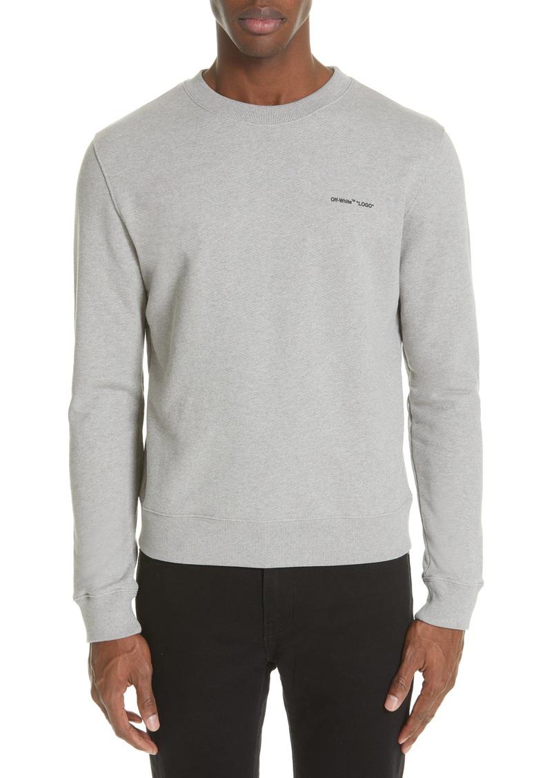 Off-White Slim Fit Logo Sweatshirt
