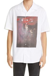 Off-White Sprayed Caravaggio Short Sleeve Button-Up Shirt