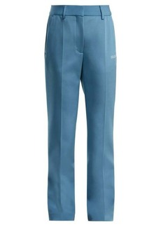 Off-White Straight-leg crepe trousers