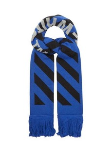 Off-White Striped jacquard-knit scarf