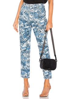 OFF-WHITE Tapestry Tight Crop Jean