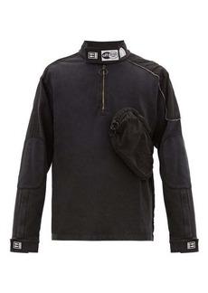 Off-White Technical-panelled cotton-jersey sweatshirt