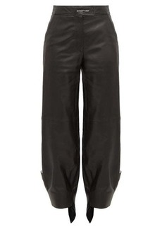 Off-White Tie-cuff leather trousers