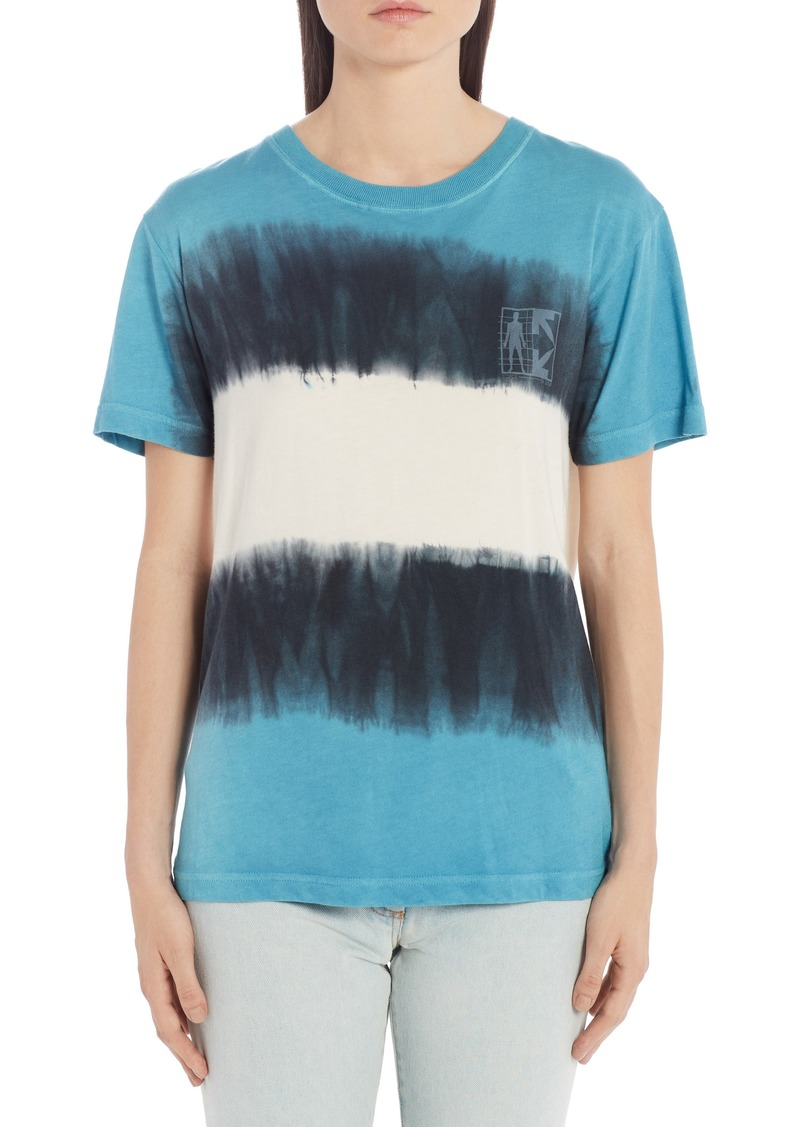 Off-White Tie Dye Logo Graphic Tee