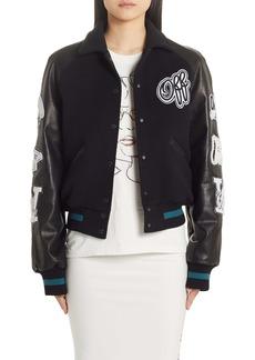 Off-White Vintage College Varsity Bomber Jacket