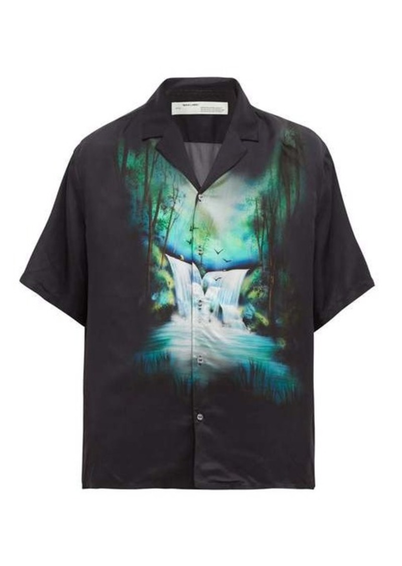 Off-White Waterfall-print short-sleeved shirt