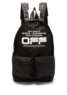 Off-White Wavy-logo canvas backpack