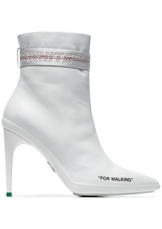 Off-White White For Walkin 100 Ankle Boots