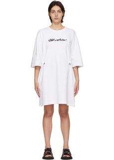 Off-White White Logo Coulisse Dress