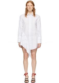 Off-White White Popeline Asymmetrical Dress