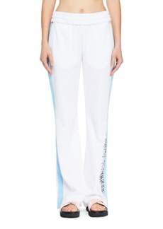 Off-White Wide-Leg Racer Track Pants